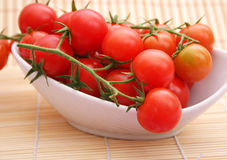 Fresh tomatoes. Some fresh tomatoes in a bowl Royalty Free Stock Photography