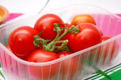 Fresh tomatoes. Some fresh tomatoes in a box Stock Image