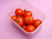 Fresh Tomatoes. Some fresh tomatoes in a box Royalty Free Stock Images