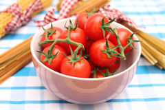 Fresh tomatoes. Some fresh, red tomatoes in a bowl Stock Photos
