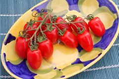 Fresh tomatoes. Some fresh red cherry tomatoes Royalty Free Stock Image