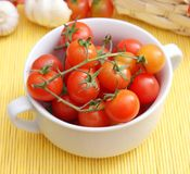 Fresh tomatoes. Some fresh small red tomatoes Royalty Free Stock Photography