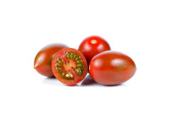 Fresh tomatoes on white background. Tomatoes on white background stock photo