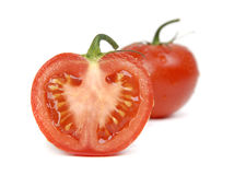 Fresh tomatoes on a white background Stock Photography