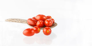 Fresh  tomatoes on white background Royalty Free Stock Image