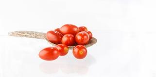 Fresh  tomatoes on white background Royalty Free Stock Image
