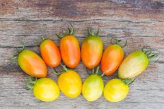 Fresh Tomatoes on wood Royalty Free Stock Images