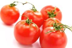 Fresh tomatos. Red cherry tomatos on white background Stock Photo