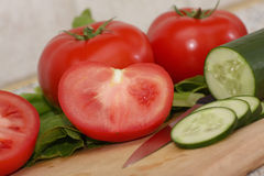 Fresh tomatos Stock Images