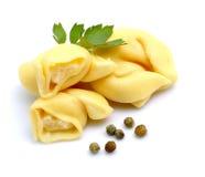 Fresh tortellini Stock Images
