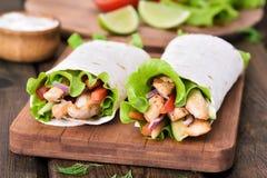 Fresh tortilla wraps Royalty Free Stock Images