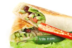 Fresh tortilla wraps Royalty Free Stock Image