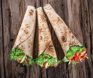 Fresh Tortilla wraps. Royalty Free Stock Images