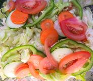 Fresh Tossed Salad Closeup royalty free stock photos