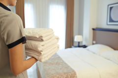 Fresh towels royalty free stock photo