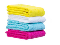 Fresh towels stack general view Stock Images