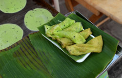 Fresh traditional dessert in Thailand (Tong Muan) Royalty Free Stock Photos