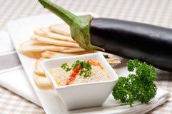 Moutabal baba ghanoush eggplant dip stock images