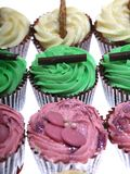 A Fresh tray of Cupcakes. A freshly baked tray of cupcakes royalty free stock photos