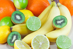Fresh tropical fruit Stock Images