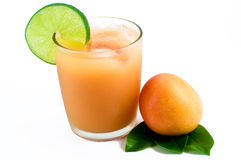 Fresh tropical fruit and juice Stock Images