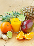 Fresh tropical fruit juice Royalty Free Stock Images