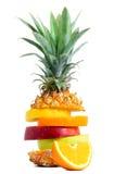 Fresh Tropical Fruit mix. Snack Royalty Free Stock Photo