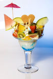Fresh tropical fruit sundae or parfait Royalty Free Stock Photos