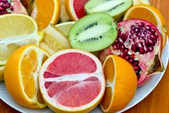 Fresh tropical fruits Stock Images