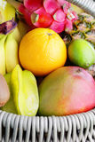 Fresh tropical fruits royalty free stock photos