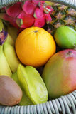 Fresh tropical fruits Stock Image