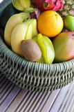 Fresh tropical fruits Stock Photos