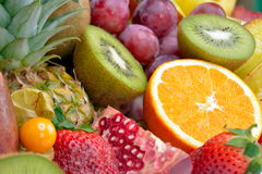 Fresh tropical fruits Royalty Free Stock Photo