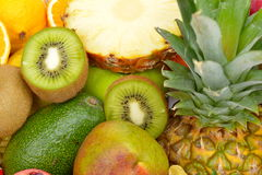 Fresh tropical fruits Royalty Free Stock Image