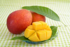 Fresh tropical fruits. Fresh fruits on the dining table stock photos