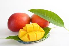 Fresh tropical fruits. Fresh fruits isolated on white background stock image