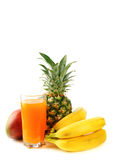 Fresh tropical fruits and juice Stock Photography