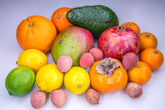Fresh tropical fruits Stock Photo