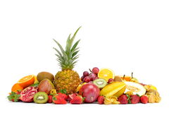 Fresh tropical fruits in studio Royalty Free Stock Images