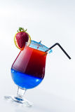 Fresh tropical layered cocktail Stock Image