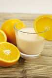 Fresh tropical orange yoghurt shake dessert Royalty Free Stock Photography