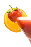 Fresh tropical strawberry cocktails stock image