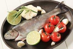 Fresh trout Royalty Free Stock Photo