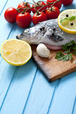 Fresh trout with spices Stock Photo