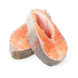 Fresh trout steaks Royalty Free Stock Photos