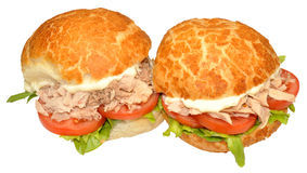 Fresh Tuna Fish Sandwich Rolls Royalty Free Stock Images