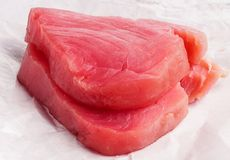 Fresh Tuna Fish steak Royalty Free Stock Image