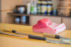 Fresh Tuna Ingredient for sushi Stock Image