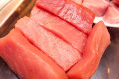Fresh tuna meat stock photography