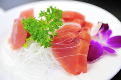 Fresh Tuna Sashimi Stock Photo